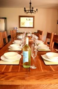 Kestrel Dining Table Laid