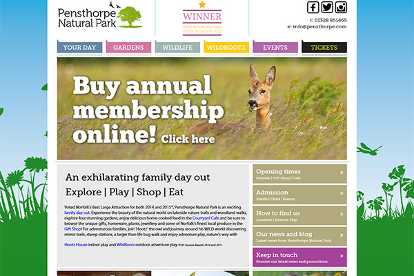 Pensthorpe Natural Park website
